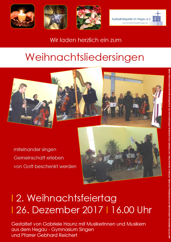 Offenes Weihnachtsliedersingen @ Autobahnkapelle im Hegau | Engen | Baden-Württemberg | Deutschland