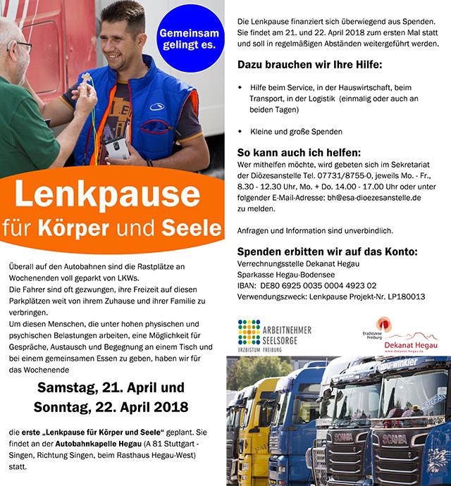 Lenkpause für Körper und Seele @ Autobahnkapelle im Hegau | Engen | Baden-Württemberg | Deutschland