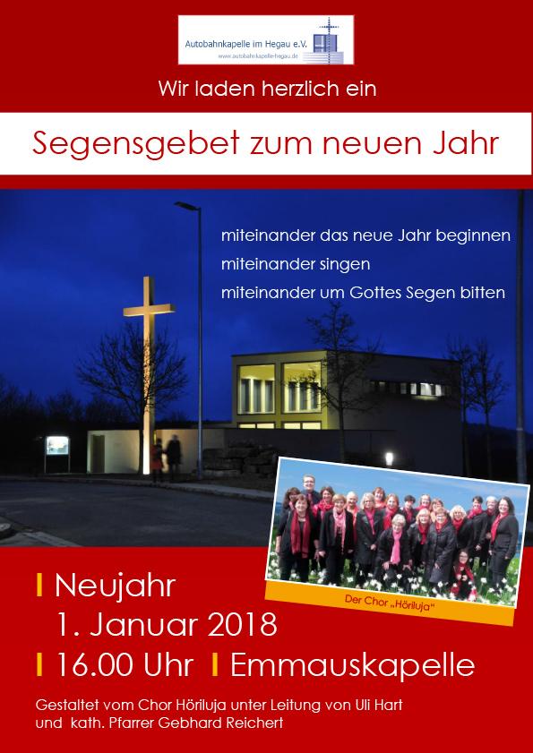 Segensgebet zum Neuen Jahr @ Autobahnkapelle im Hegau | Engen | Baden-Württemberg | Deutschland
